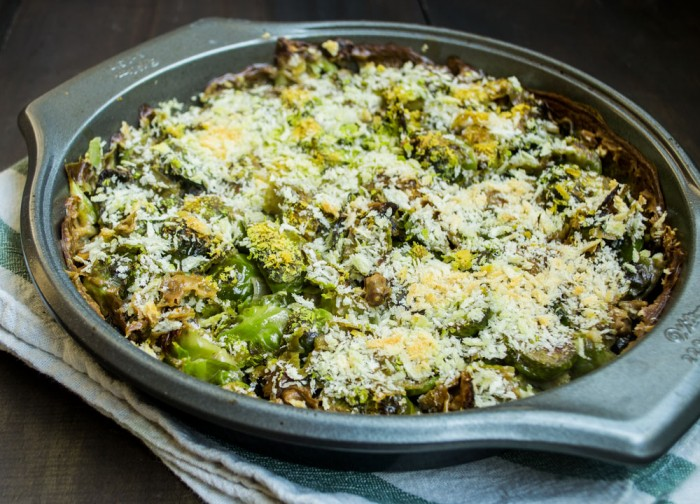 Brussels Sprouts Gratin w/ Smoky Tempeh Bacon » Vegan Food Lover