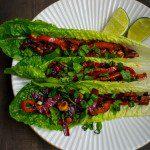spicy tofu lettuce wraps