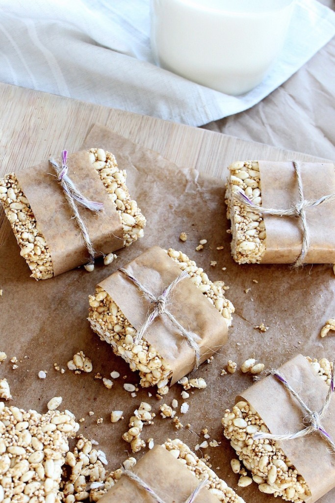 Amaranth and Brown Rice Crispy Treats