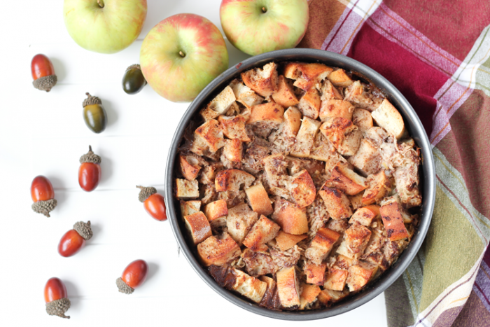 Apple Cinnamon Vegan Bread Pudding