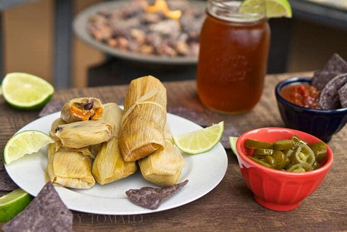 Black Bean and Sweet Potato Tamales