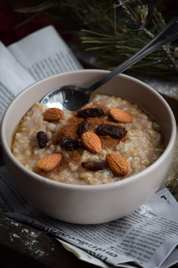 Maple Almond Brown Rice Pudding