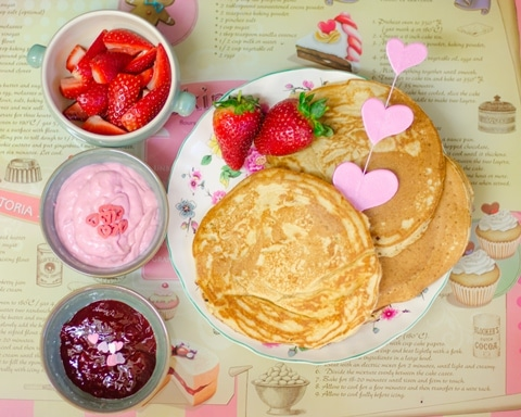 V-Day Chocolate Chips Pancakes