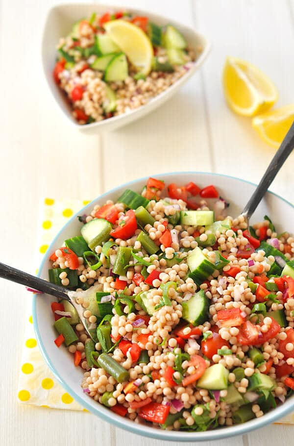 Whole Wheat Pearl Couscous Salad