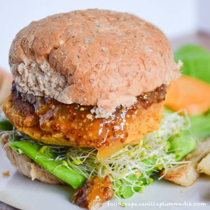 Sweet Potato Chickpea Buger