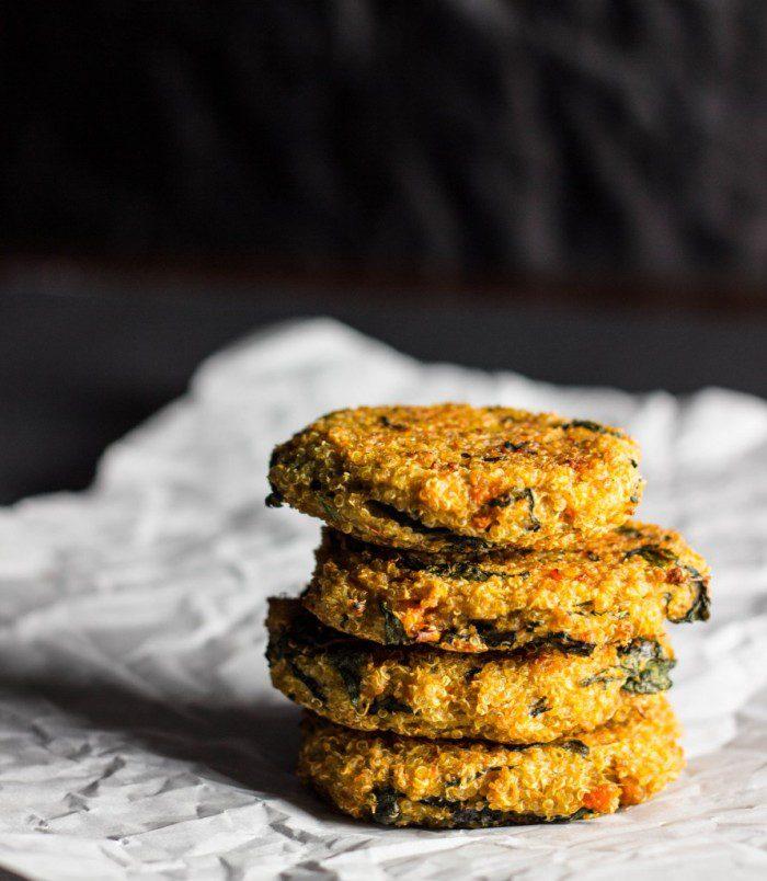 Sweet Potato Spinach Quinoa Burgers