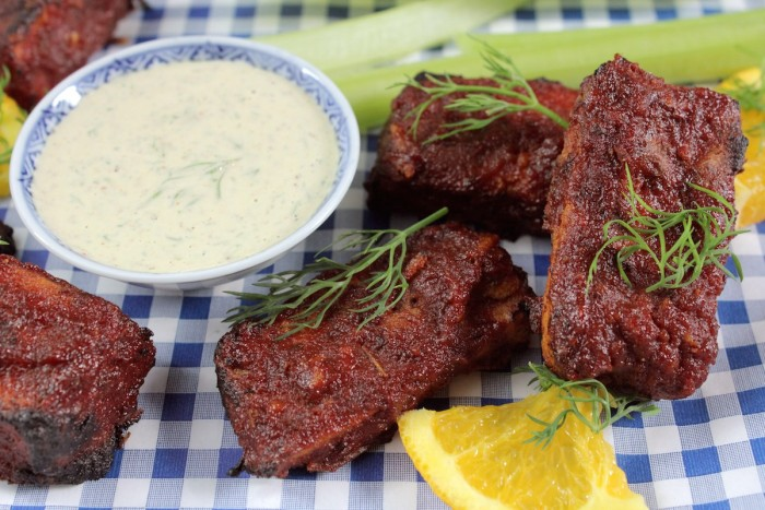 BBQ Tofu Wings with Ranch Dip