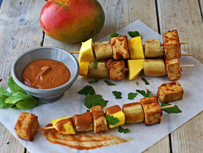 Easy Vegan BBQ Tofu Skewers