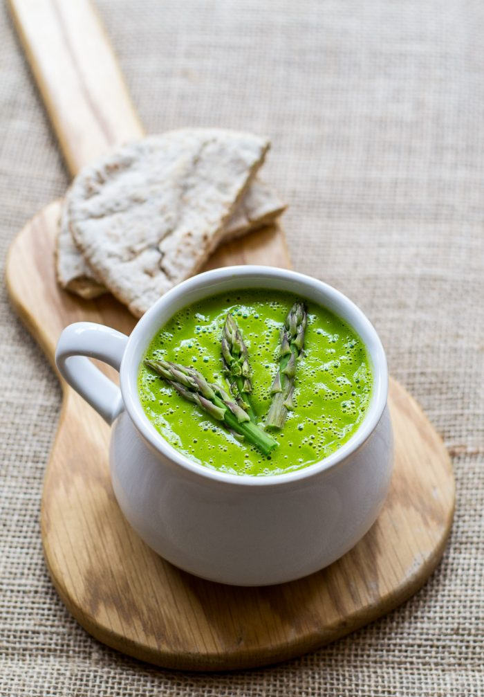 Asparagus and Swiss Chard Soup