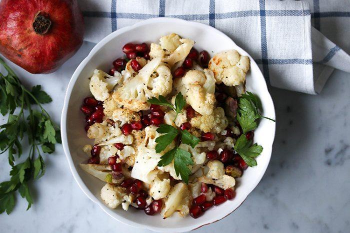 Cauliflower and Pomegranate Salad