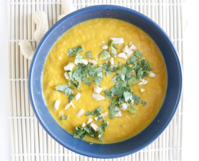 Thai-style Carrot and Peanut Soup