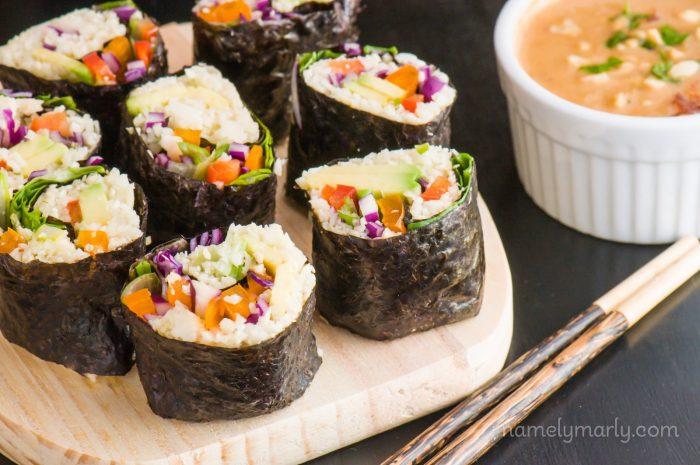 Vegan Sushi Cauliflower Rice