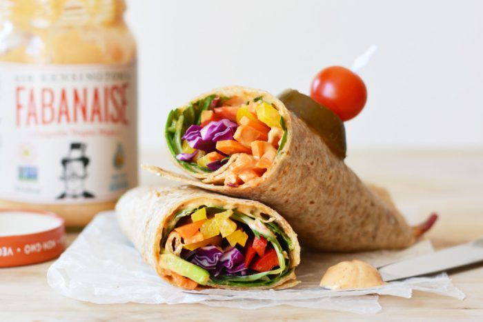 Chipotle Hummus Rainbow Wrap