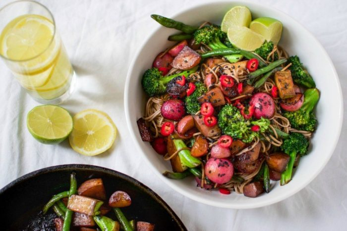 Ginger-Lime Soba Noodle Salad
