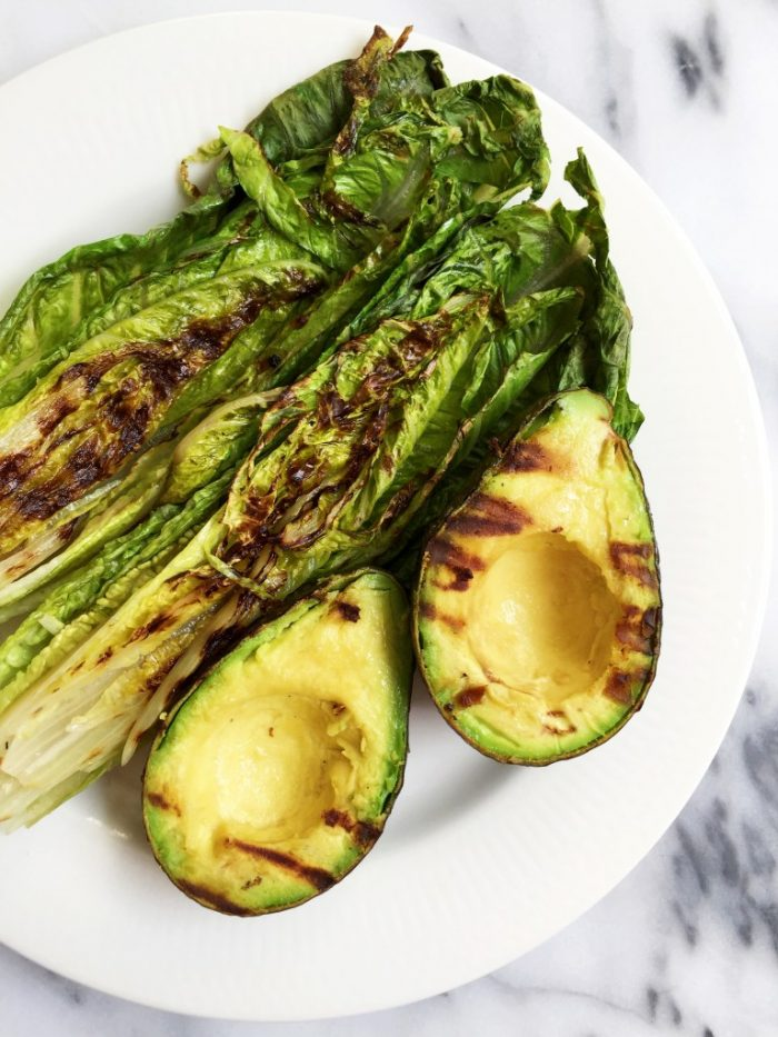 Grilled Romaine Avocado Salad