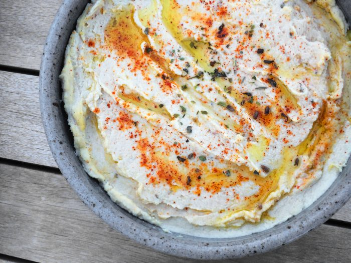 Roasted Garlic & Artichoke Hummus