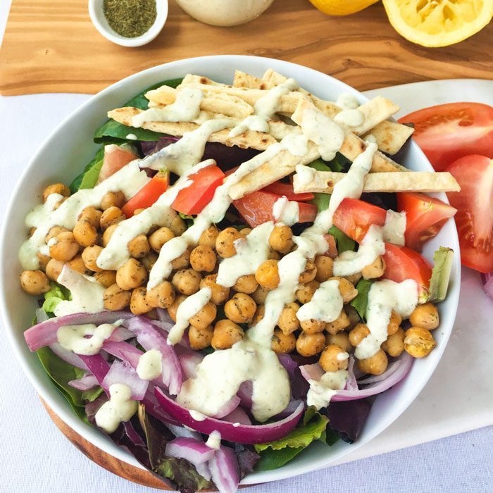 "Vegan ""Gyro"" Salad"