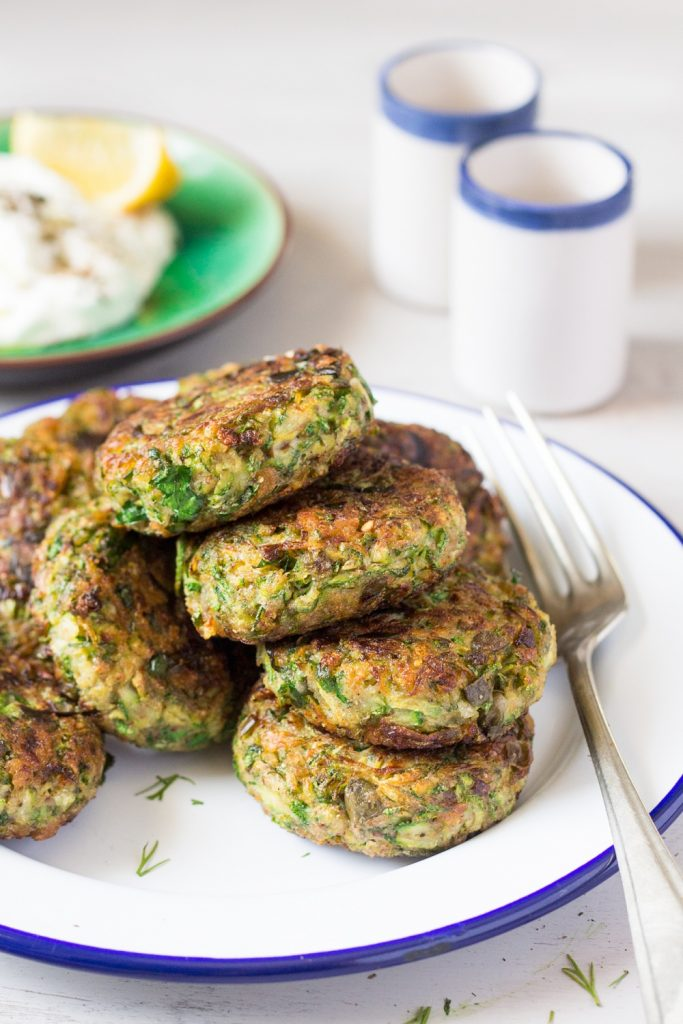Vegan Greek Zucchini Fritters