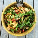 Vegan Pasta Salad with Marinated Tofu