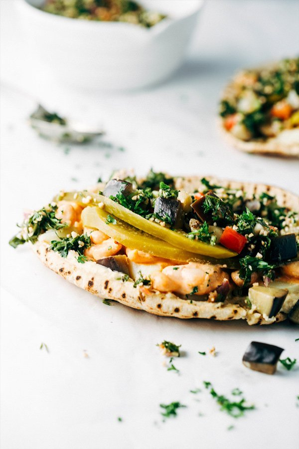 Vegan Sabich Sandwich