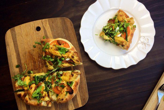 cast iron vegan deep dish pizza