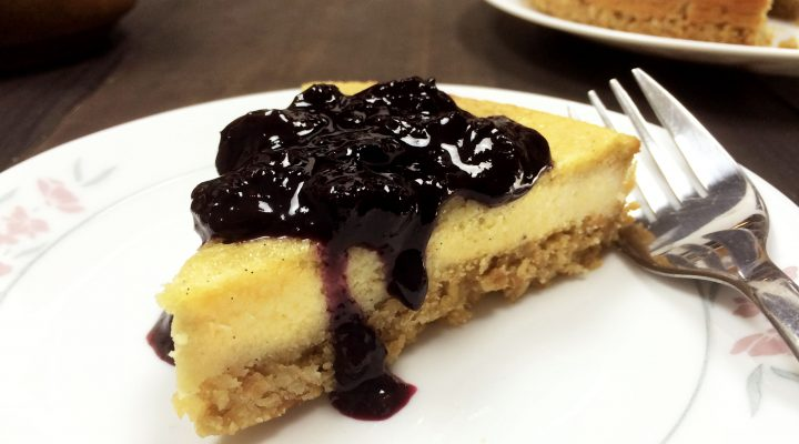 Cashew Cheesecake with Berry Compote