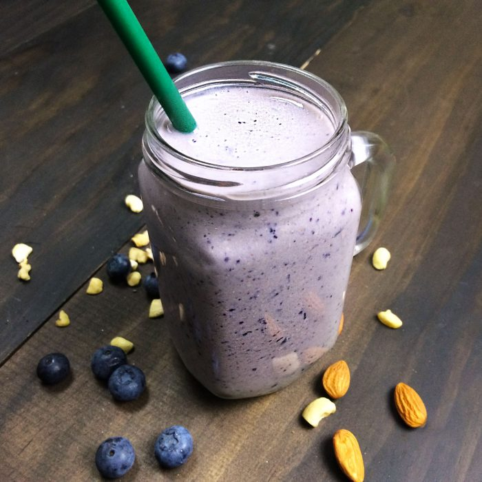 high protein blueberry smoothie vegan