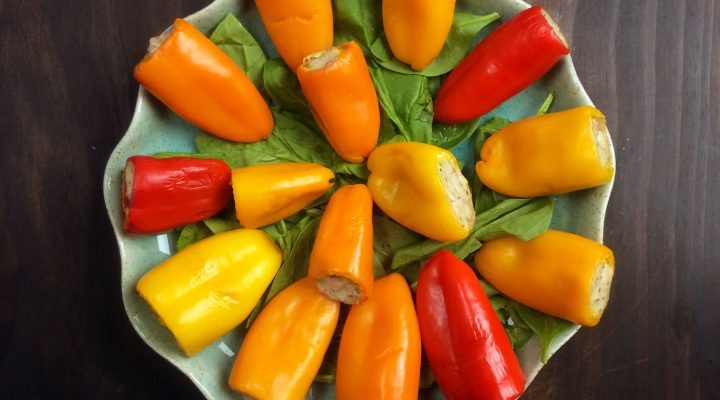 Mini Stuffed Peppers with Tofu-Ricotta Filling
