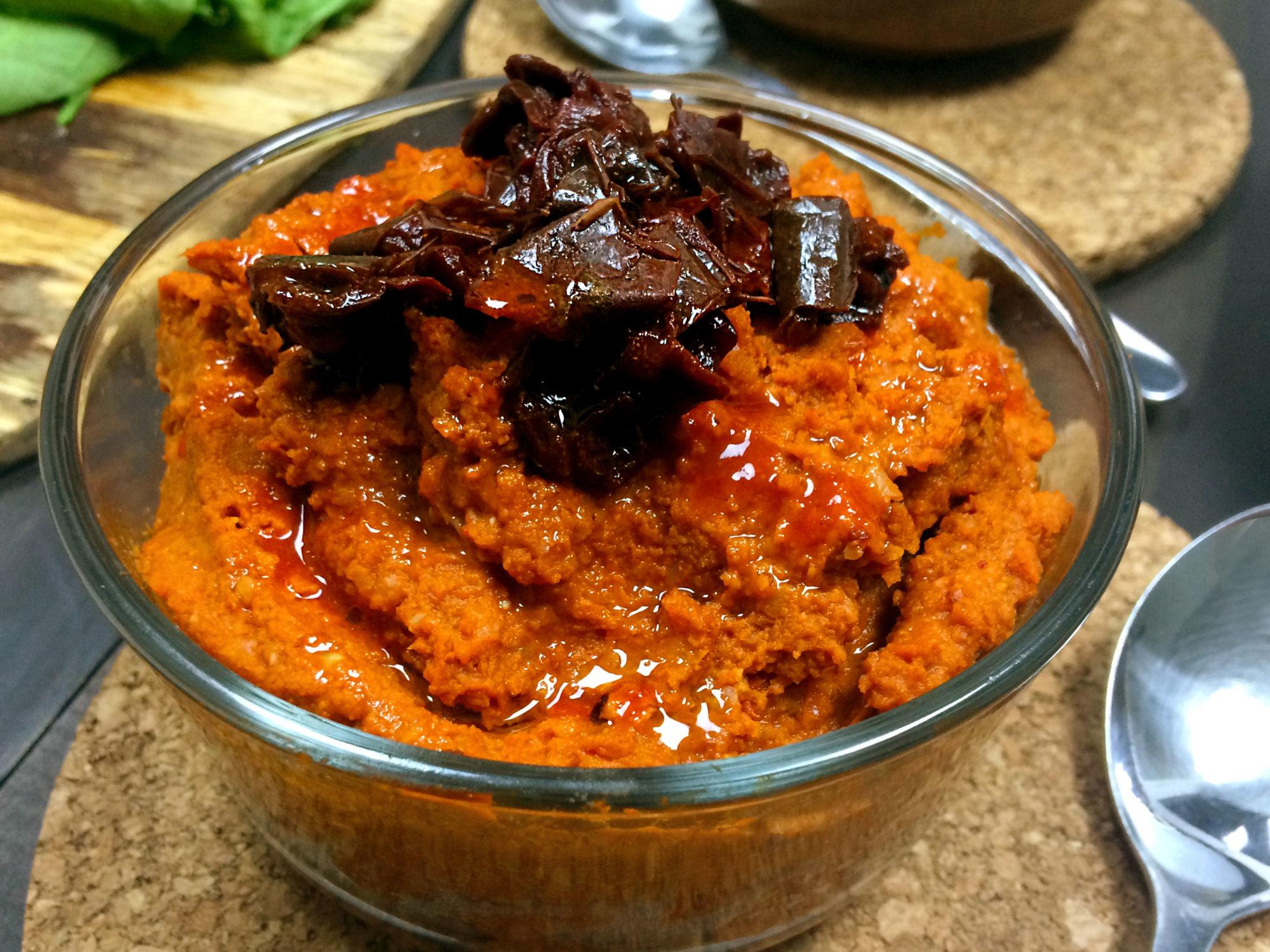 red hot chili pepper hummus and veggie wraps