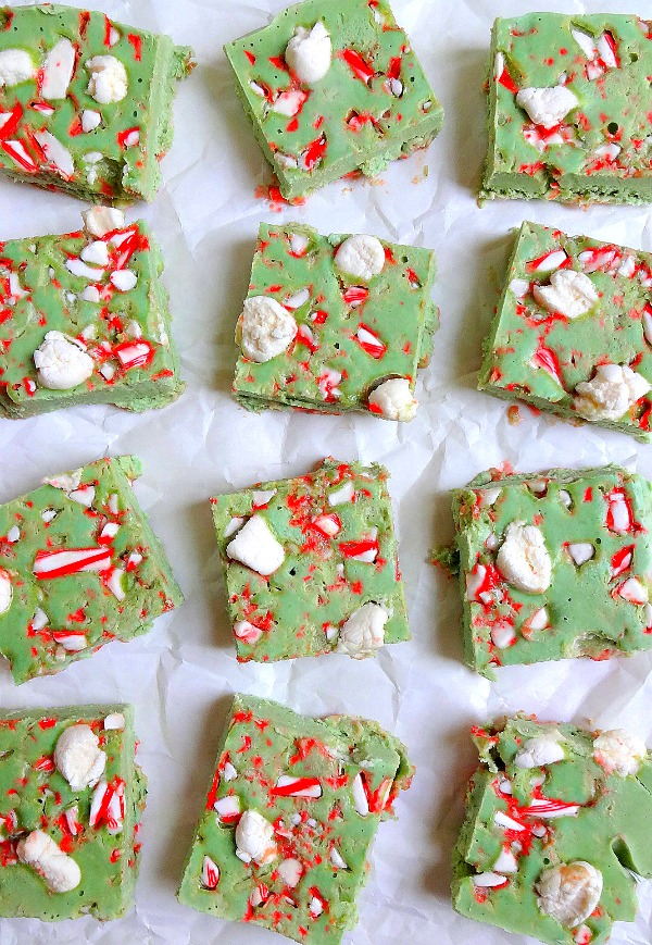 Candy Cane Peppermint Fudge