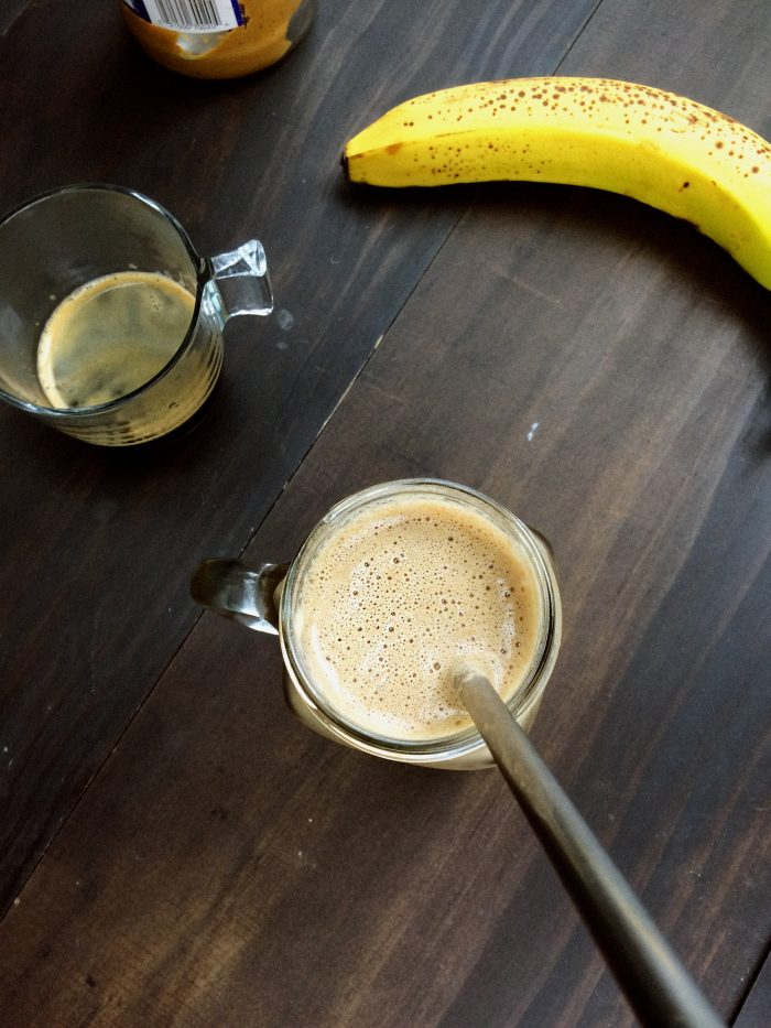 peanut butter espresso smoothie
