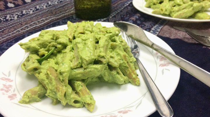 Spinach-Avocado Green Pasta