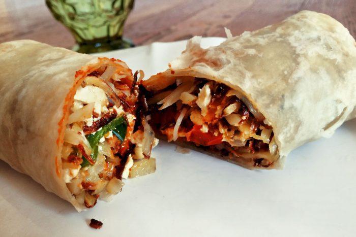 soy chorizo breakfast burrito