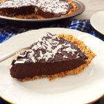 vegan chocolate pie with oat crust