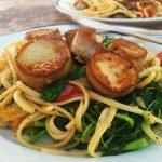 vegan scallops linguine