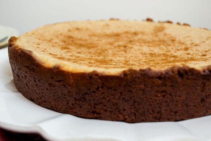 vegan eggnog cheesecake