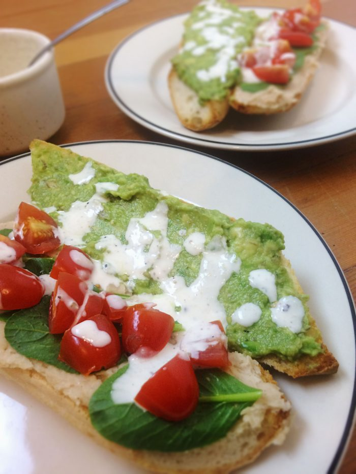 white bean pate veggie subs