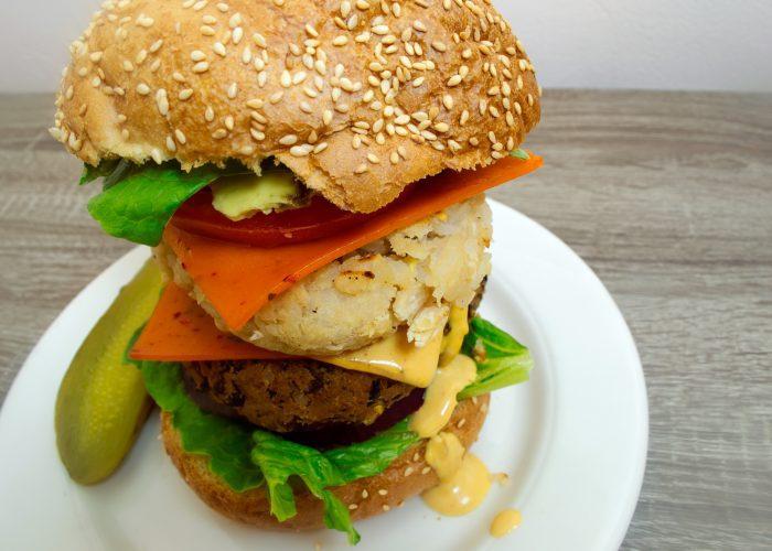 black-and-white-bean-double-cheeseburger-vegan