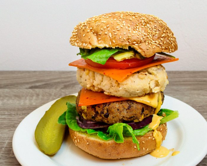 black-and-white-bean-double-cheeseburger-vegan