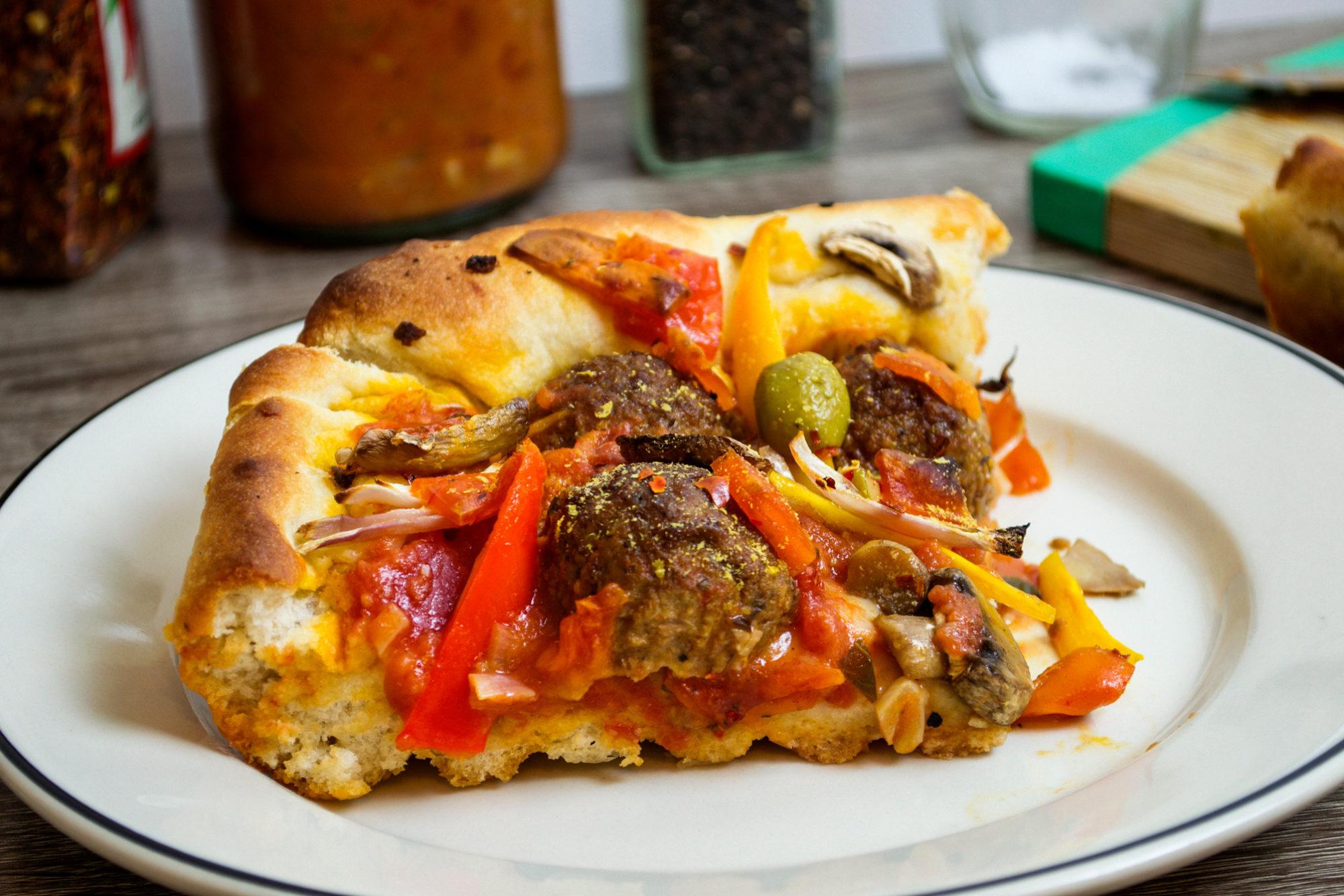 vegan vodka sauce pizza