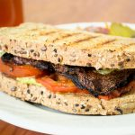 grilled portobello mushroom sandwich avocado aioli vegan