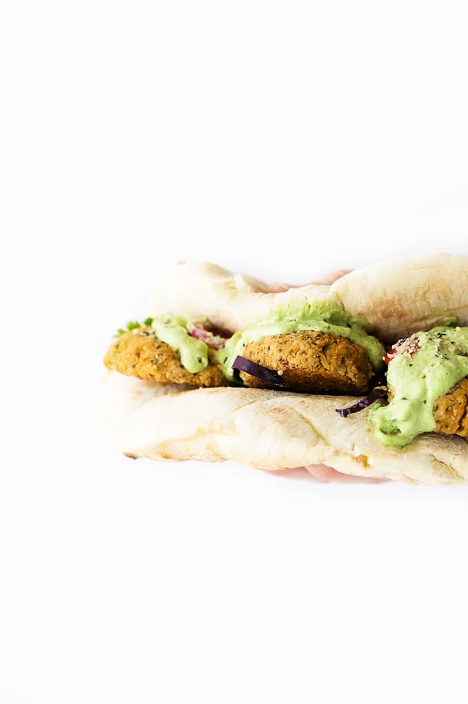 Herbed Cauliflower Patty Wraps + Green Tzatziki
