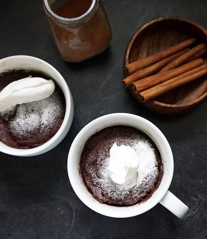 Mexican Chocolate Coffee Mug Cake