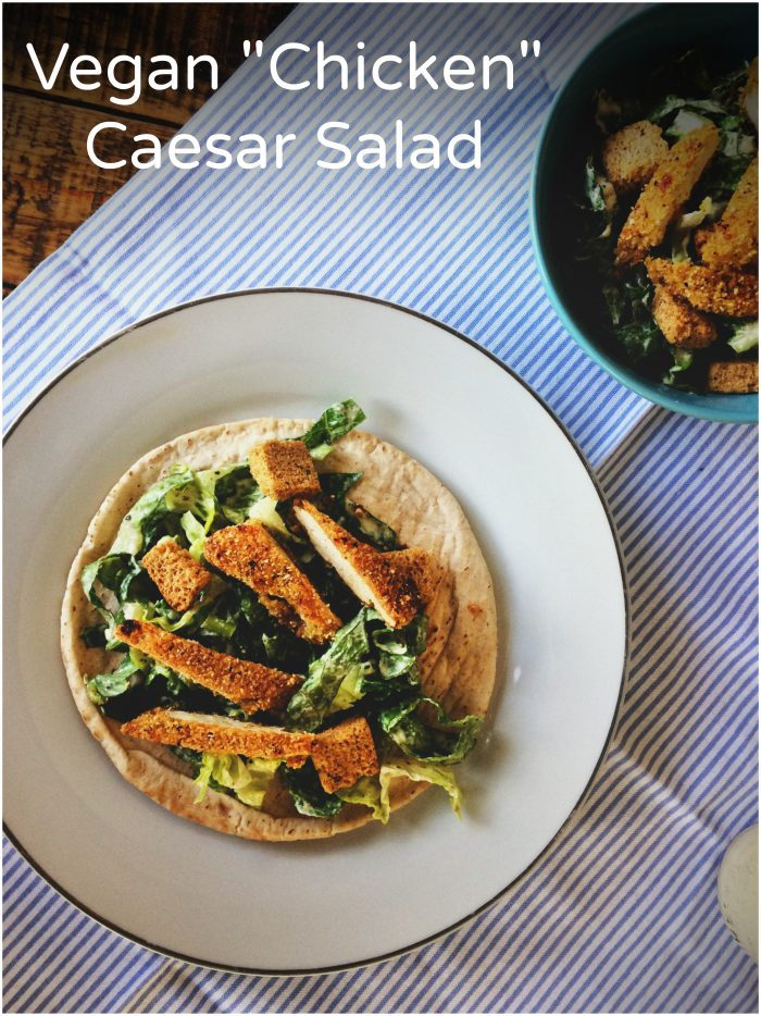 Vegan Chicken Caesar Salad Recipe