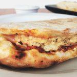 grilled vegan pizza pockets
