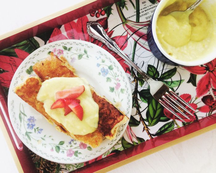 vegan french toast sticks and lemon curd