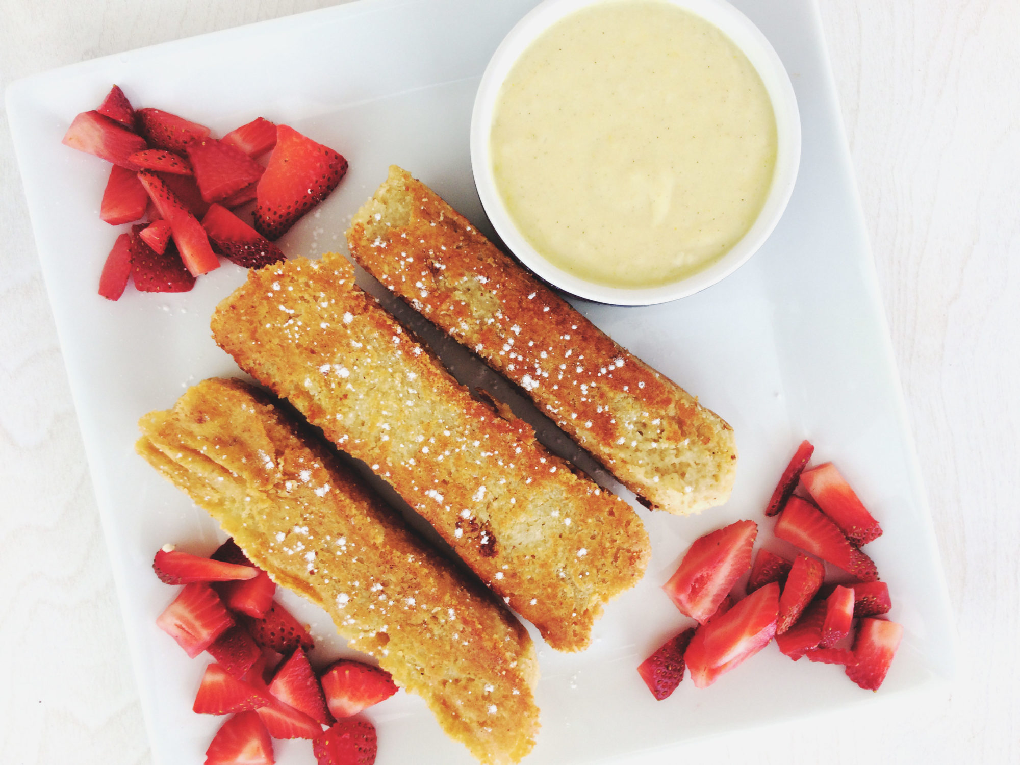 vegan french toast sticks and lemon curd