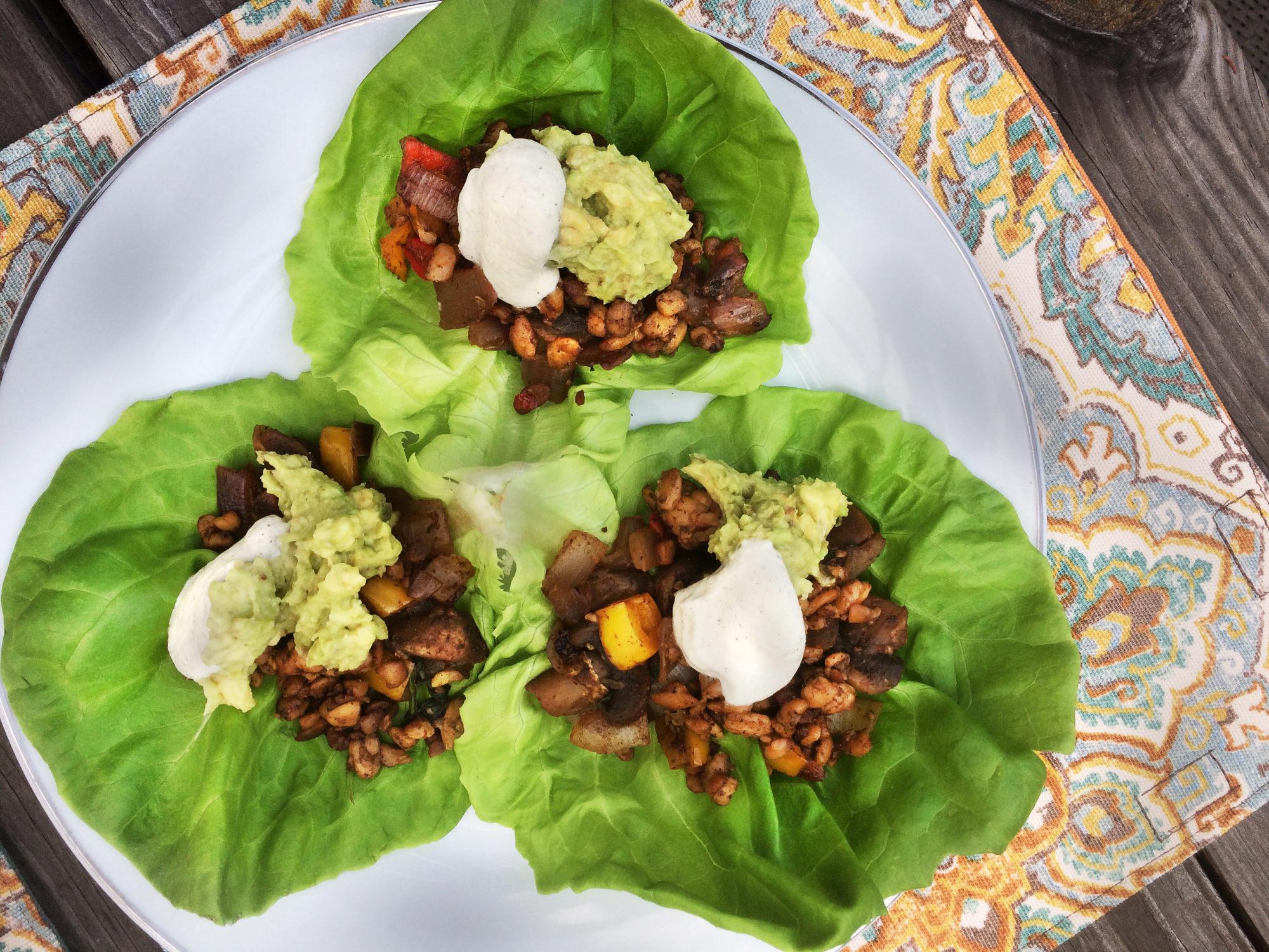 Low-Carb Tempeh Tacos