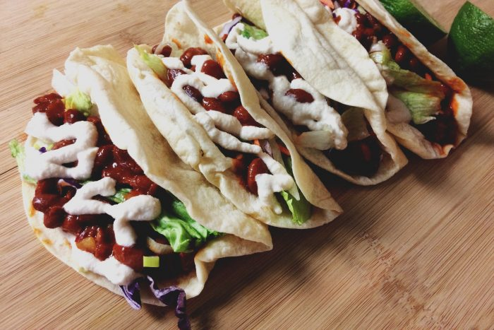 vegan spicy red bean tacos recipe