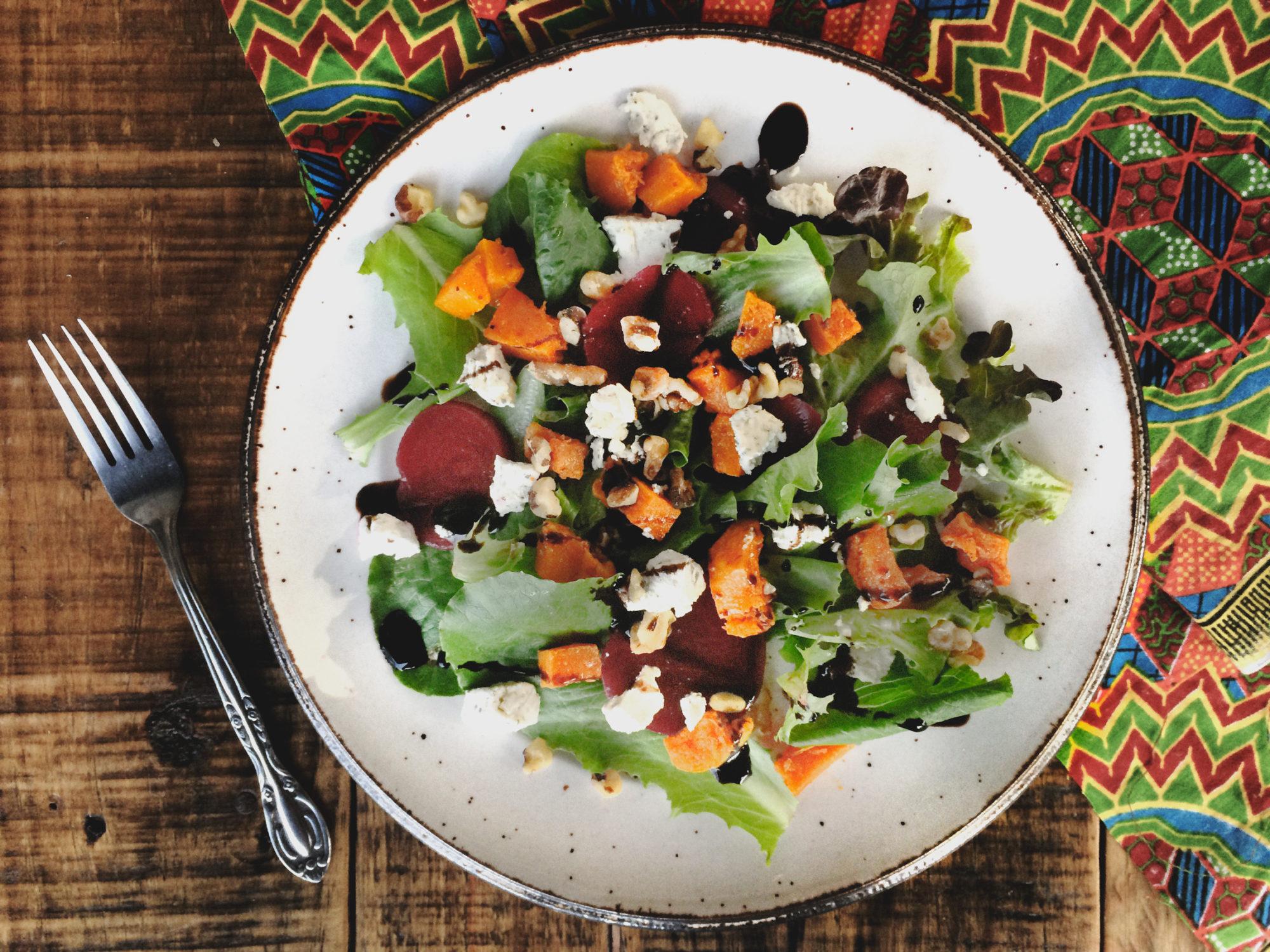 Butternut Squash Salad with Vegan Feta